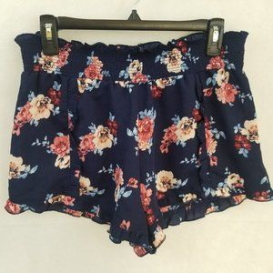 LIVING DOLL | Floral Loose Shorts Juniors Size XL